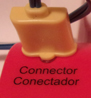 aed connector fully pushed in