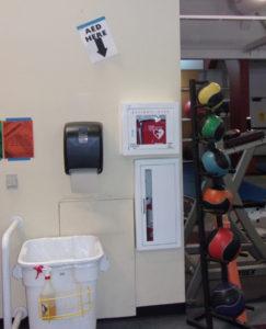 a e d inside Wellness Center at De Anza College
