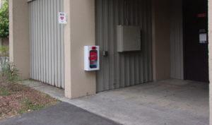 a e d outside adaptive P.E. gym at De Anza College