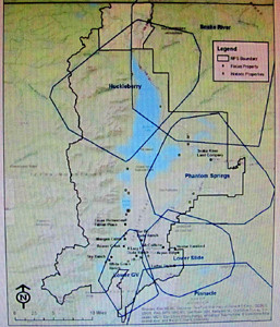 map of wolf pack territories in Grand Teton National Park 2014