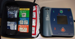 unzipped AED case