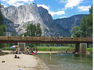 NPS photo swinging bridge swim area