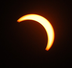 photo by Krishnakanth Batta part of a solar eclipse