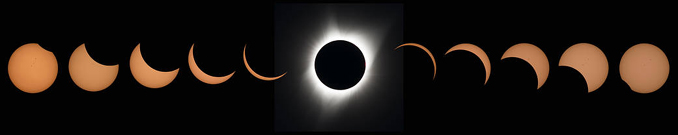 stages of a total solar eclipse Photo Credit: (NASA/Aubrey Gemignani)