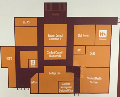 map of offices/ hallways