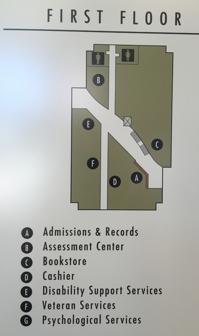 map showing numbered rooms and hallways