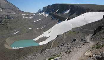 Hurricane Pass with Schoolroom Glacier