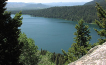 NPS photo of Phelps Lake from the Death Canyon trail