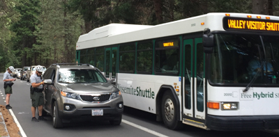 Yosemite LE stops driver in bus only lane