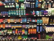 shelves in store