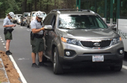 vehicle stopped by law enforcement in Yosemite