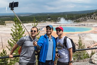 NPS photo of group taking a selfie at a safe viewpoint