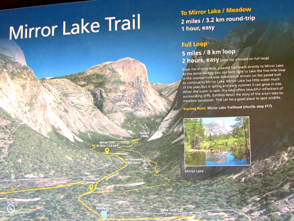 map with trails to Mirror Lake