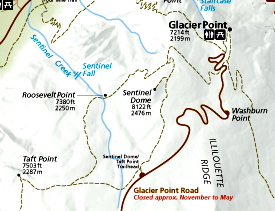 NPS map with roads, topography