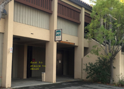 building with downstairs entrance to PE 12U De Anza College