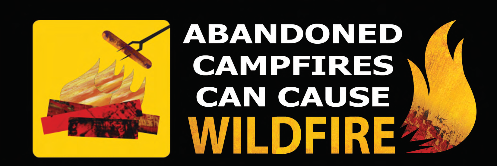 sign that says Abandoned Campfires can cause wildfire