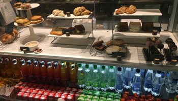 pastries and bottled beverages