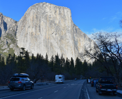 El Capitan and roadway