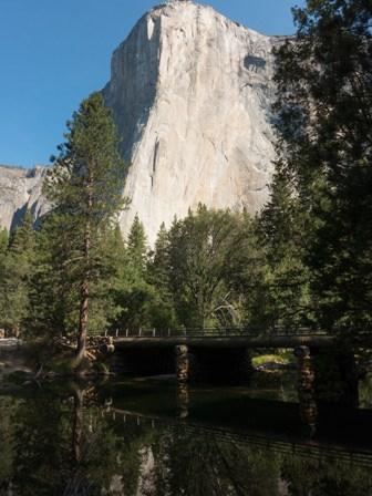 El Capitan with river and bridge below
