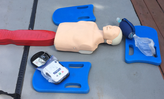 CPR manikin and other gear