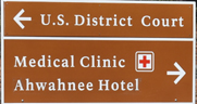 sign US DistrictCourt, Ahwahnee hotel medical clinic
