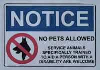 sign that says no pets allowed on Yosemite buses