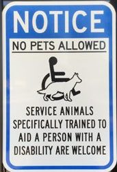 sign no pets allowed