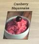 dish of cranberry mayonnaise