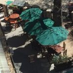 tables, some with umbrellas