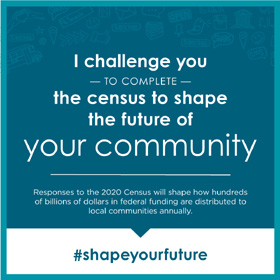 census challenge says I challenge you to complete the census to shape the future of your community