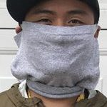 Marc Anthony Urbano with homemade face mask