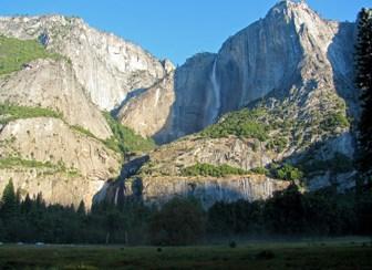 nps photo of Yosemite falls and cliffs
