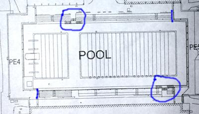 drawing of pool