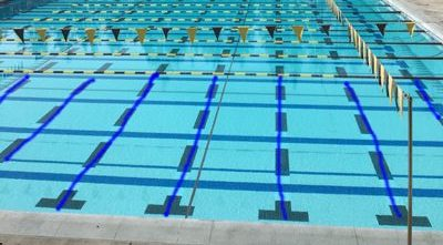 lines drawn on a pool photo
