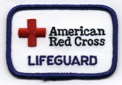 patch that says American Red Cross lifeguard