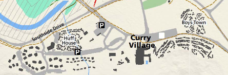 map with buildings and roads