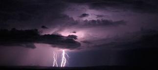 lightning from dark clouds