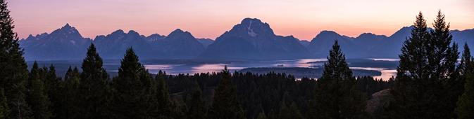 mountain range and long lake