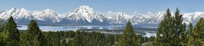 mountains and long lake