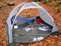 torn up tent