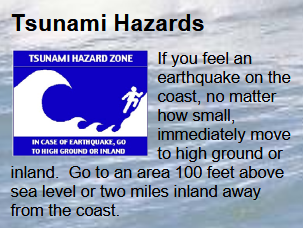 tsunami hazards poster