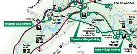 map with numbered shuttle stops
