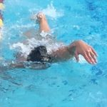 swimmer with elbow dropped but bent wrist