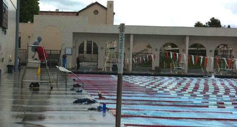 lifeguard and large pool