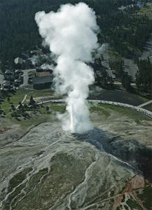 huge geyser
