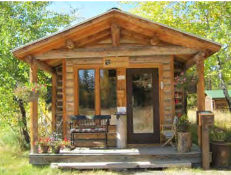 office in a cabin