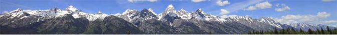 most of the Grand Teton range peaks