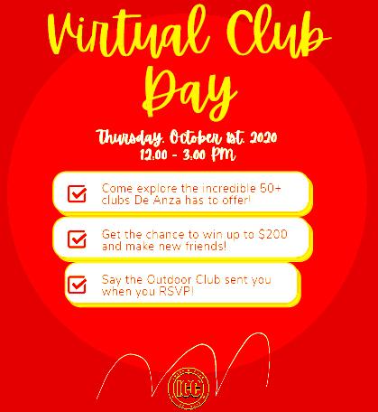 poster that advertises Virtual Club Day