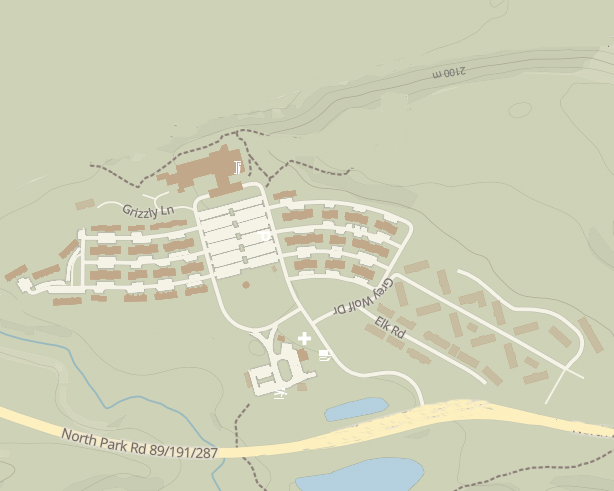 simple map with roads and buildings