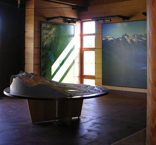 displays and large map